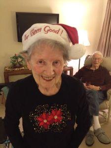 mom on Christmas Eve 2013