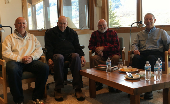 Thomas Keating, Tilden Edwards, Richard Rohr, and Laurence Freeman (2)